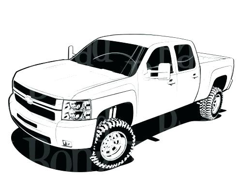 500x400 Lifted Truck Coloring Pages 2444339