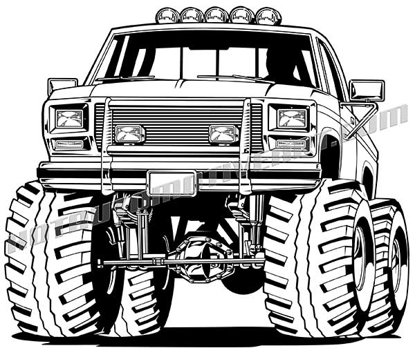 600x517 1985 Ford F 150 4x4 Pickup Truck Clip Art, Buy Two Images Get One