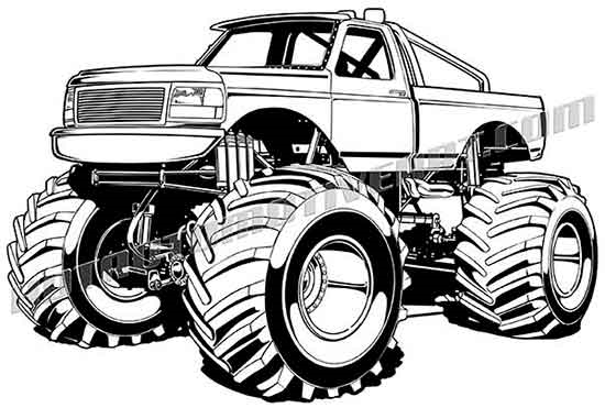 550x371 1990 Ford F 150 Monster Truck Clip Art, Buy Two Images Get One