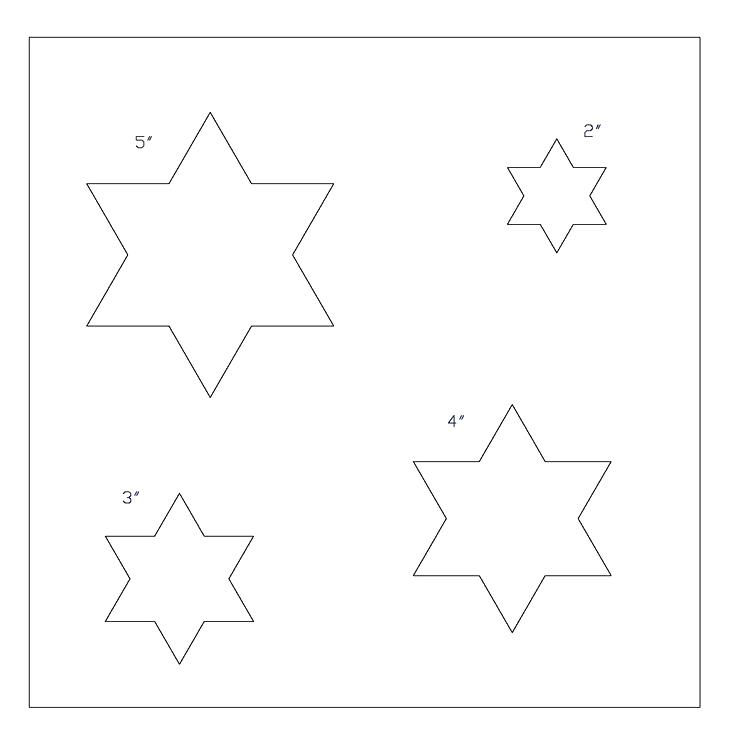 736x737 7 Point Stars Template Shapes Templates More Views 6 Star