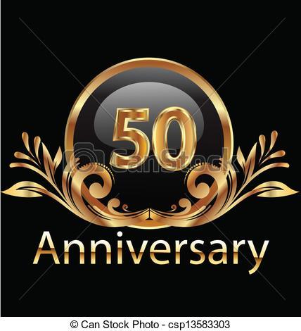 428x470 50 Years Anniversary Birthday In Gold .