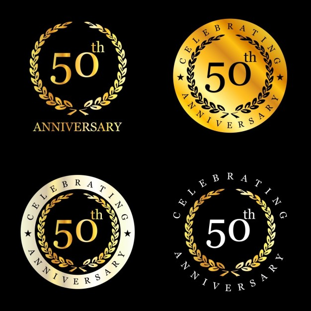 626x626 50 Years Celebrating Laurel Wreath Vector Free Download