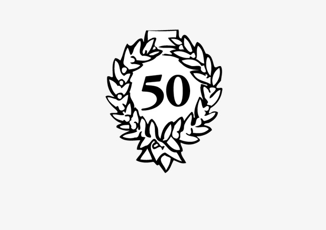 650x459 50th Anniversary, 50, Anniversary, Wreath Png And Vector For Free