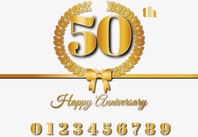 650x452 50th Anniversary Commemorative Golden Vector Material, Wheat