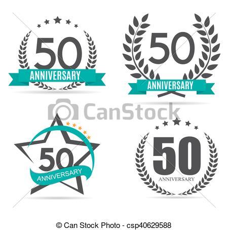 450x454 Eps10, Jubileum, Illustratie, 50, Vector, Mal, Logo, Jaren.