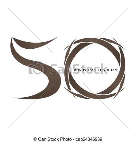 450x470 The Abstract Of 50 Years Anniversary Vector.