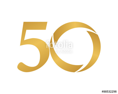 500x400 Golden Ring Logo Number 50 Stock Image And Royalty Free Vector
