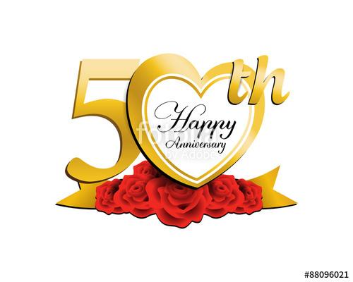 500x400 Wedding Anniversary Logo Heart 50 Stock Image And Royalty Free