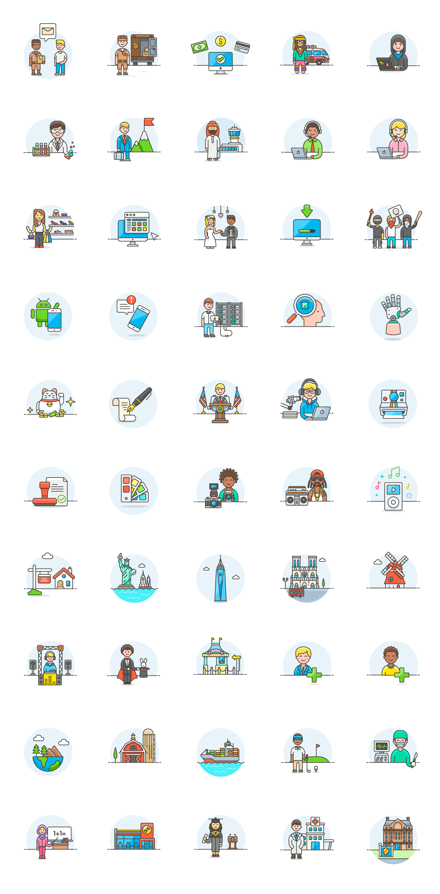 1400x2840 50 Free Vector Illustrations For Interface And Ux Design