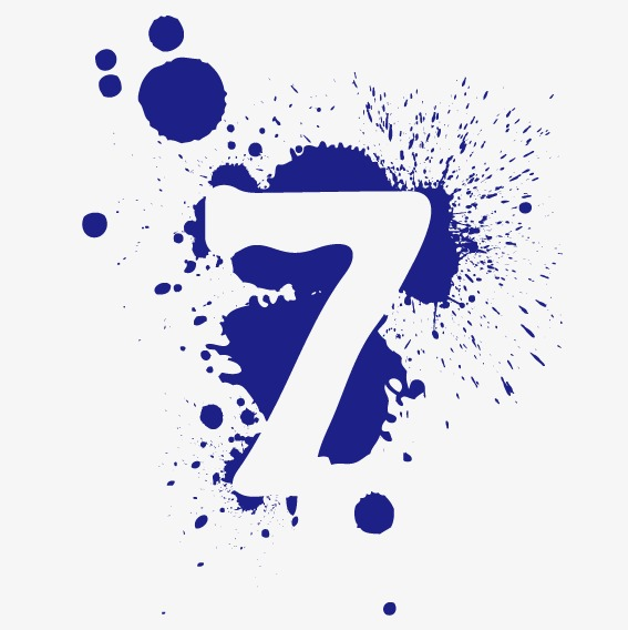 567x568 Digital Ink 7, Ink Marks, Number 7 Png And Vector For Free Download