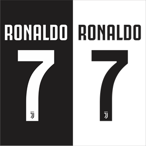 300x300 Ronaldo 7 Juventus 2018 Logo Vector (.cdr) Free Download