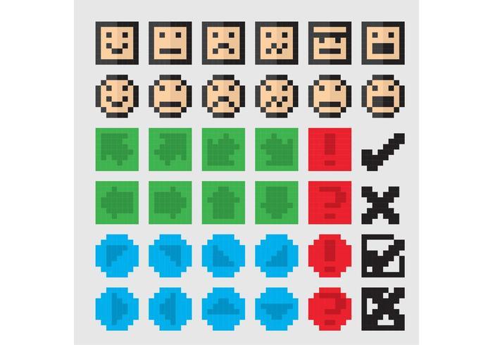 700x490 8 Bit Vector Icons