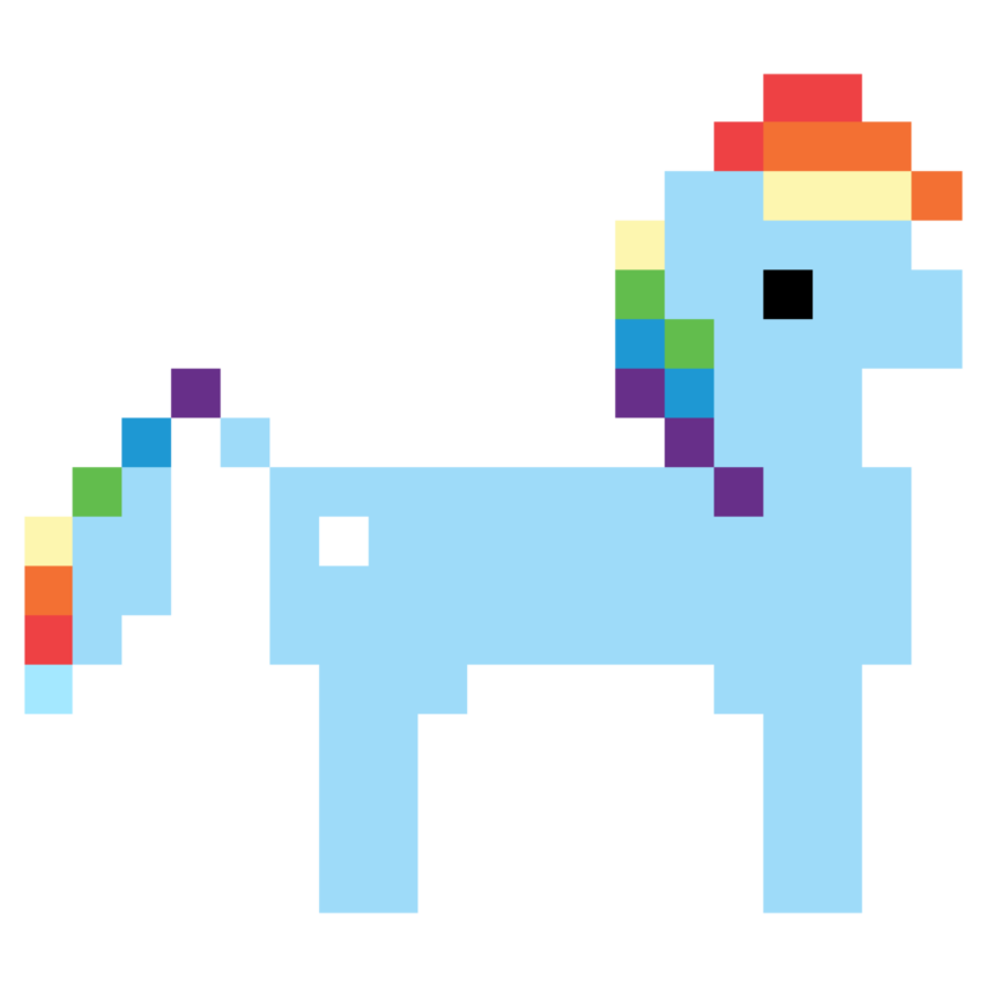 894x894 Rainbow Dash Hub 8 Bit Promo Vector By Skeptic Mousey