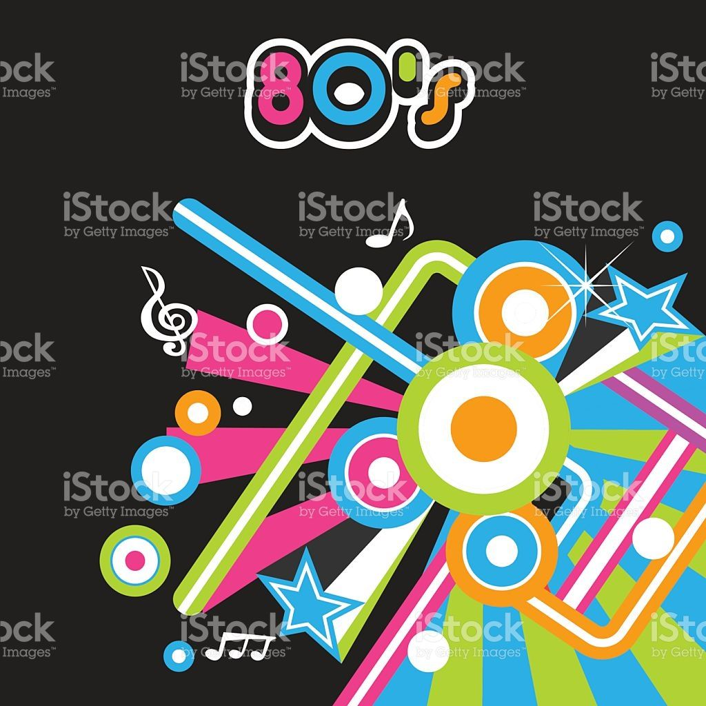1024x1024 80s Party Poster Illustration Party Poster, 80s Party And Vector Art