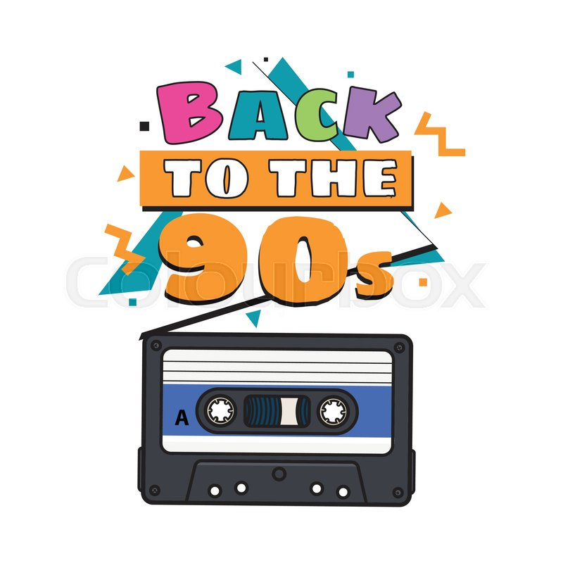 800x800 Old Fashioned, Retro Audio Cassette From 90s, Sketch Vector