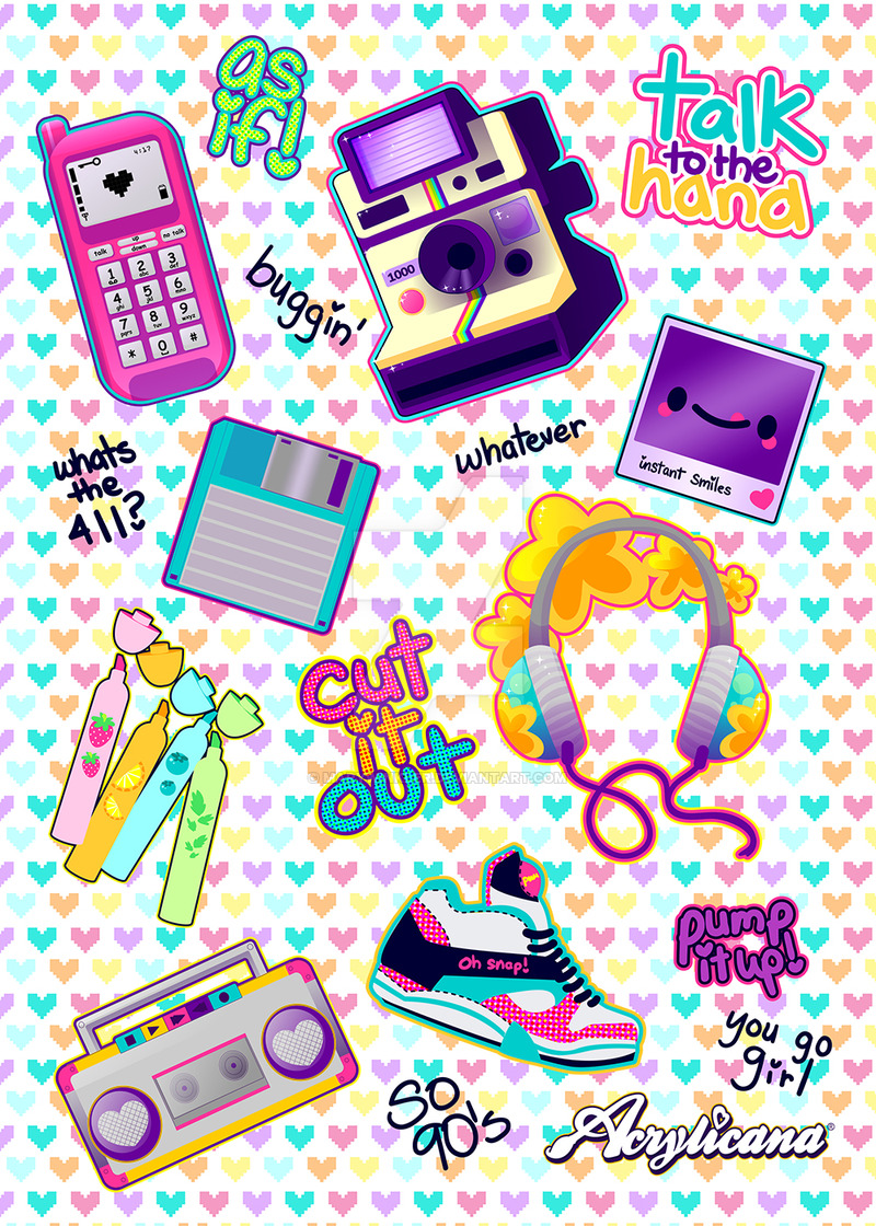 800x1120 So 90s Sticker Sheet By Marywinkler
