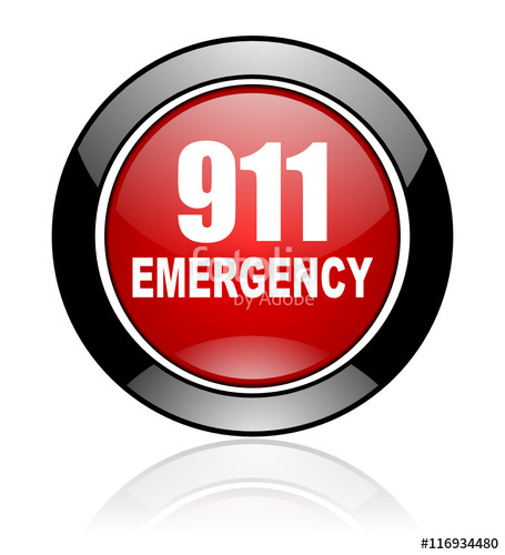 455x500 Glossy Vector Emergency Call 911 Icon Stock Image And Royalty