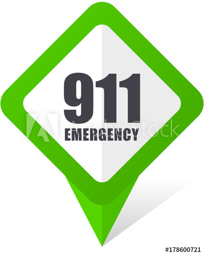 400x500 Number Emergency 911 Green Square Pointer Web And Mobile Phone