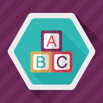416x416 Abc Blocks Flat Icon With Long Shadow,eps 10 Stock Vectors