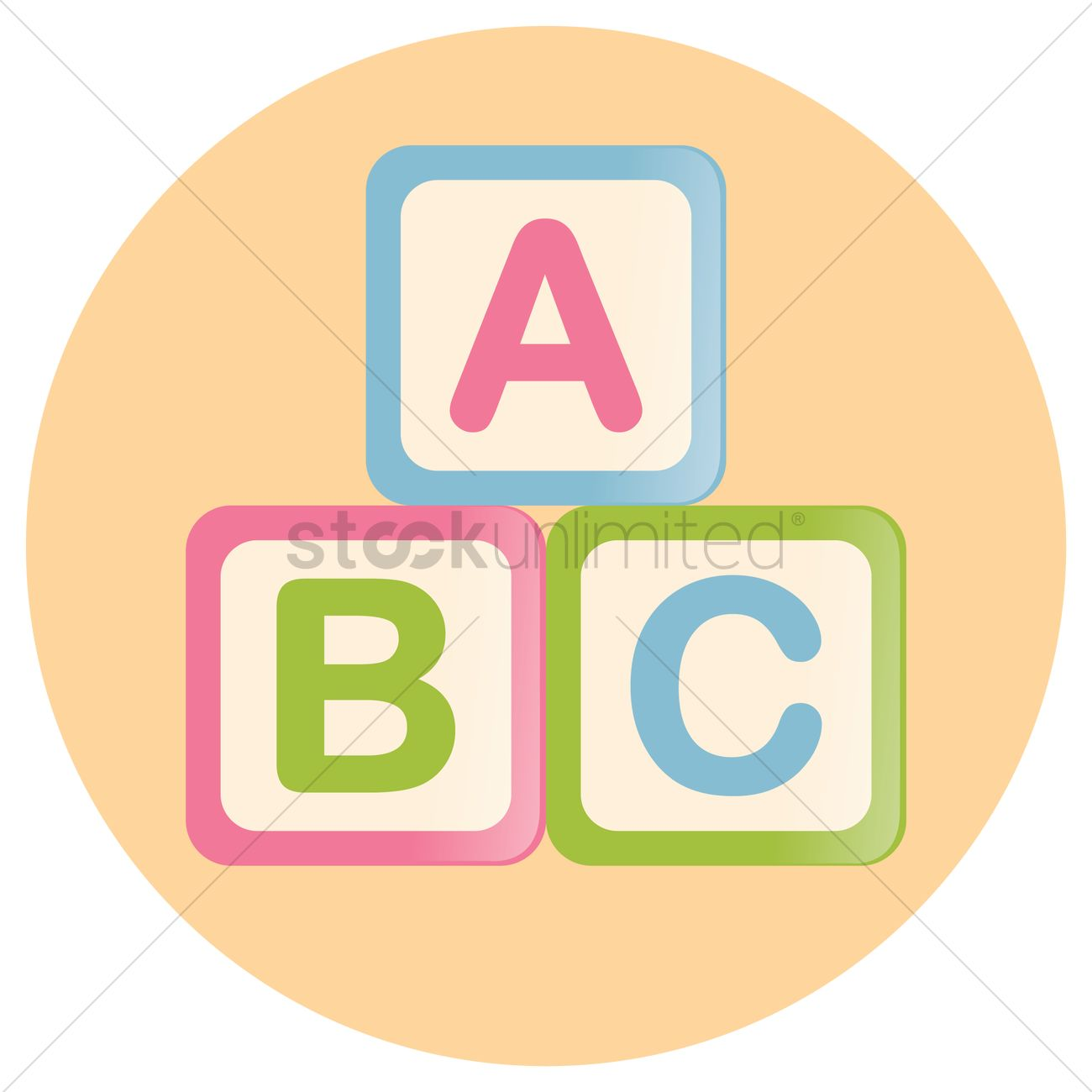 1300x1300 Abc Blocks Vector Image
