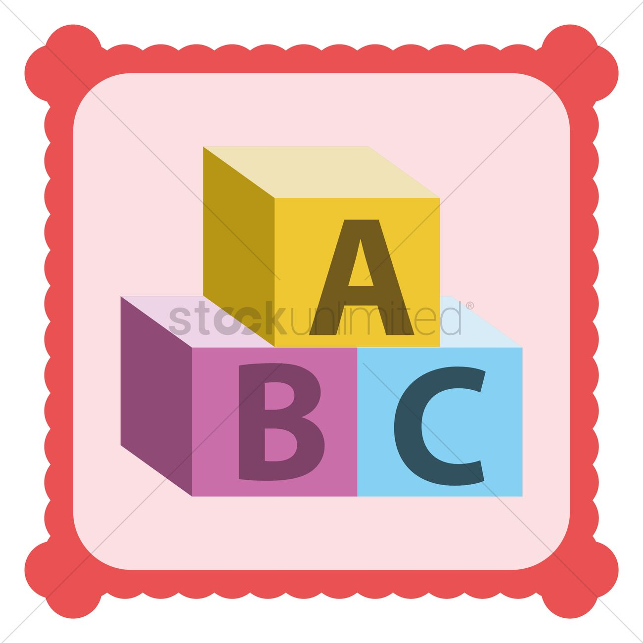 1300x1300 Abc Building Blocks Vector Image