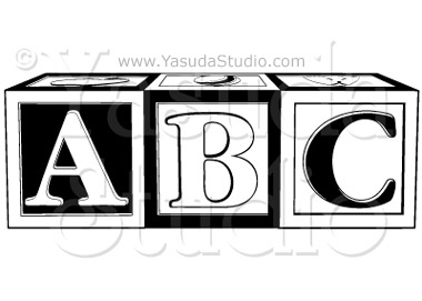 380x271 Abc Blocks 1 Color Downloadable Vector Art Yasuda Studio
