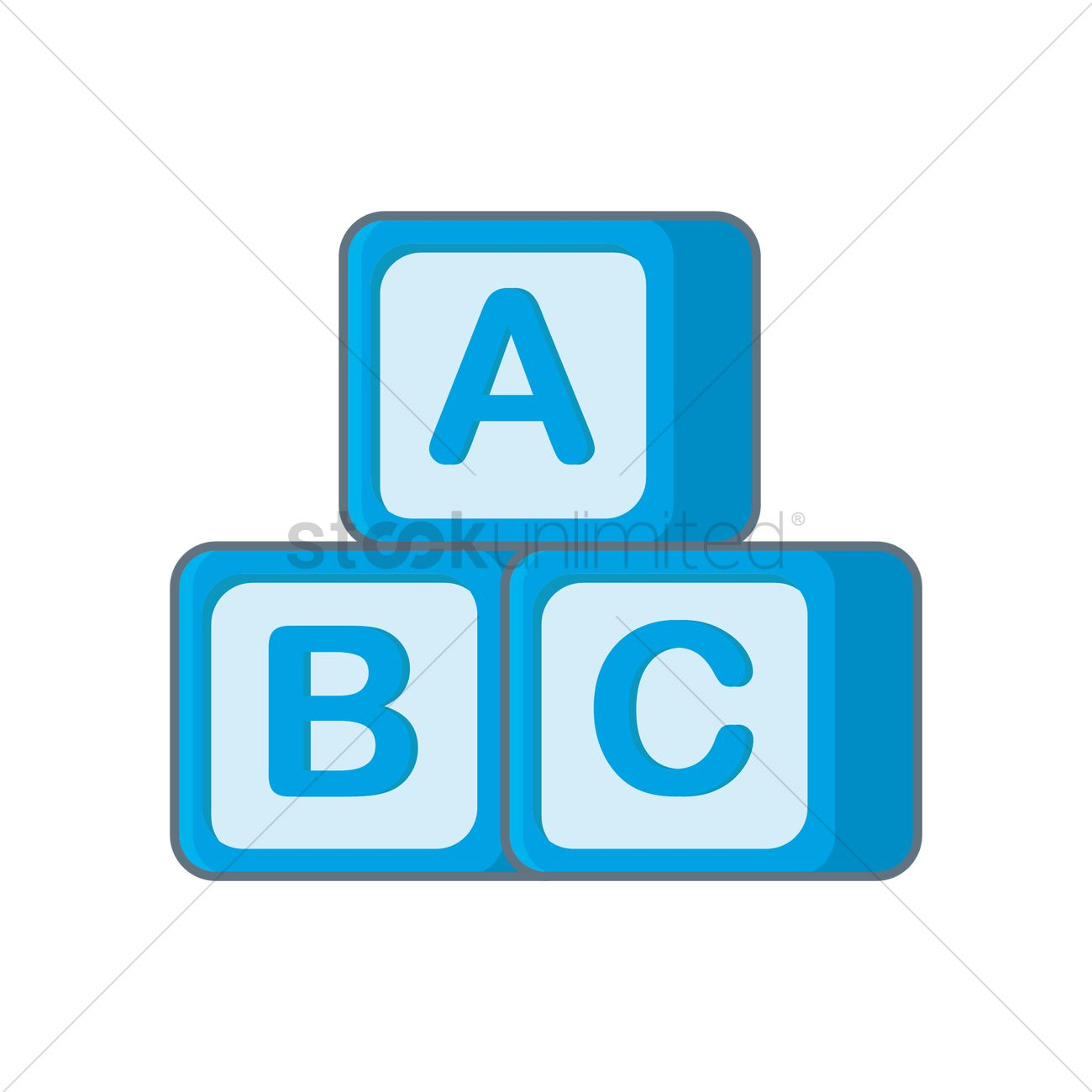 1300x1300 Free Abc Blocks Vector Image