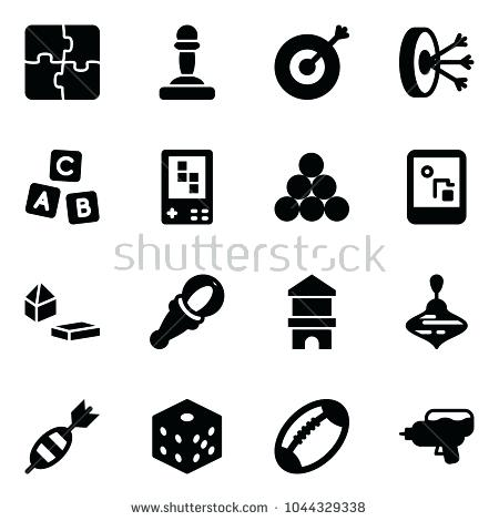 450x470 Target Abc Blocks Solid Vector Icon Set Puzzle Vector Pawn Target