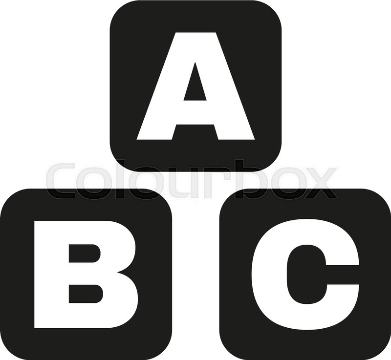 800x737 Abc Building Blocks Icon. Abc Bricks Vector Design. Baby Bricks