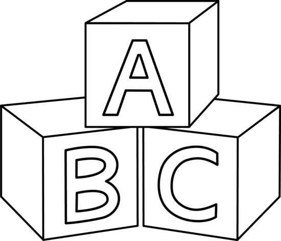 550x472 Abc Blocks Clip Art