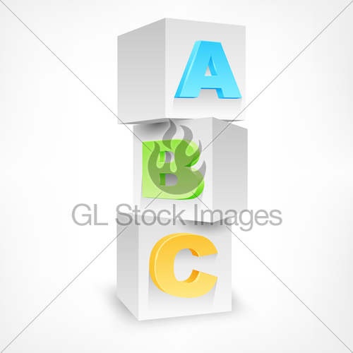 500x500 Abc Blocks Color Gl Stock Images