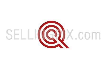 450x290 Letter Q Logo Vector Alphabet Design Element Template. Abc Concept