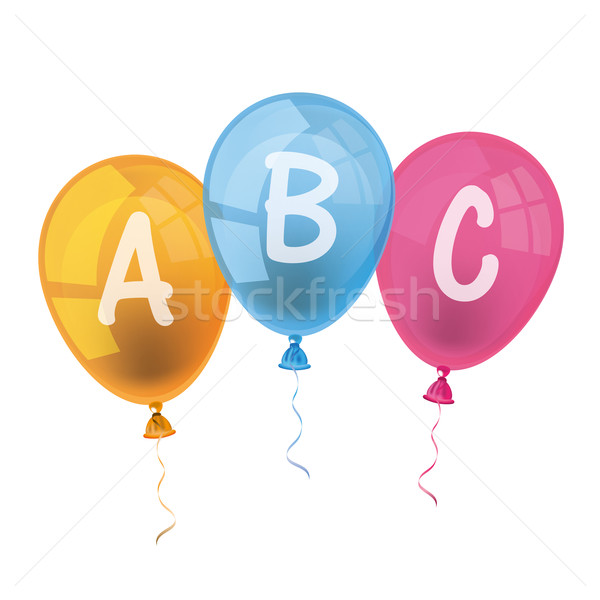 600x600 Balloons Abc Vector Illustration Limbi007 ( 7216113) Stockfresh