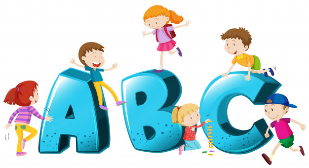 626x340 Children Playing On Font Abc Vector Premium Download