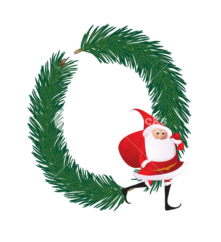 914x1000 Christmas Decorative Fir Tree Abc With Funny Santas. Letter O