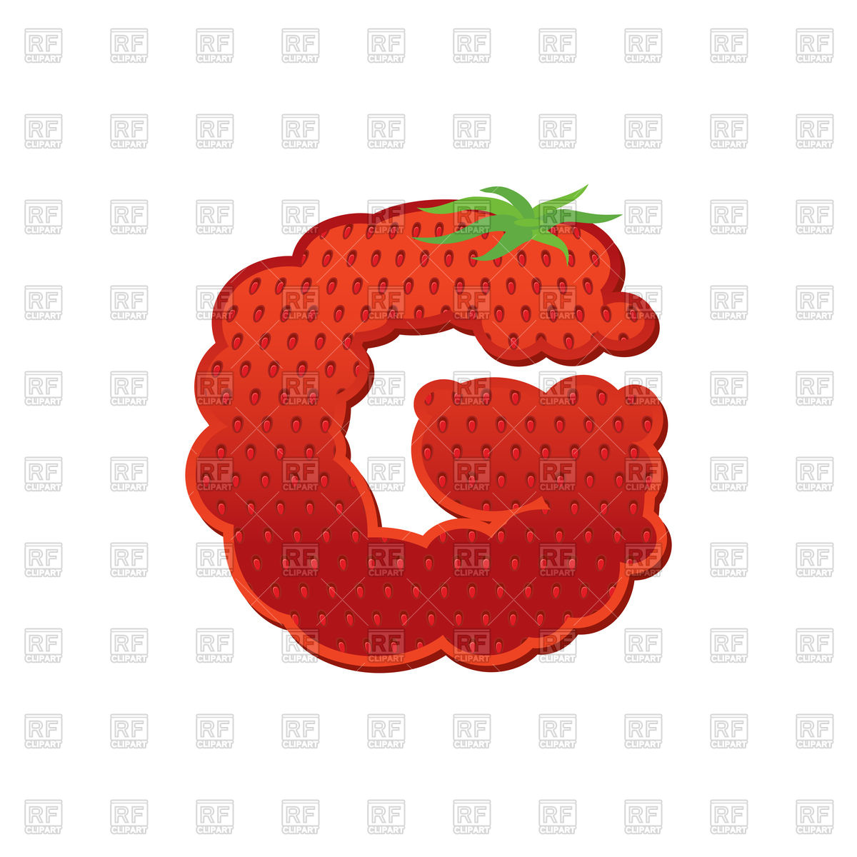 1200x1200 Letter G With Strawberry Texture