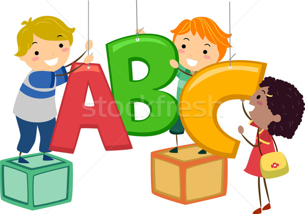 600x421 Stickman Kids Abc Decor Vector Illustration Lenm ( 6457114