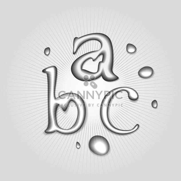 632x632 Vector Water Font Letters A B C Free Vector Download 130359 Cannypic