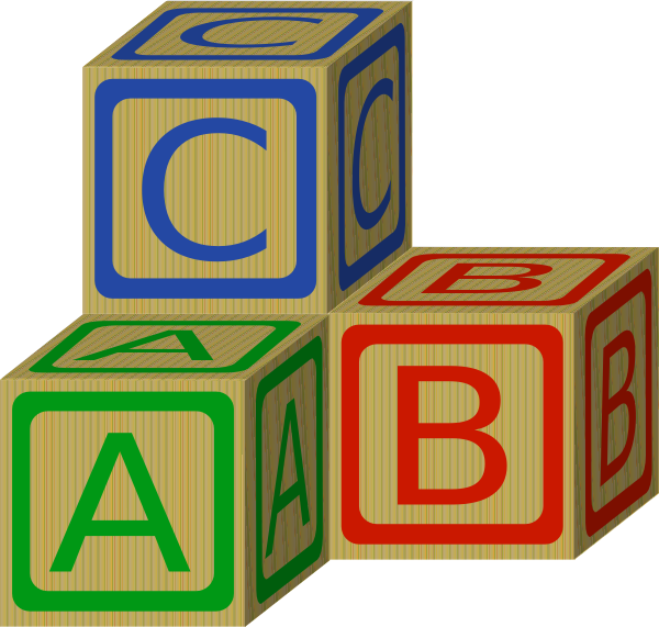 600x571 Abc Blocks Clip Art Free Vector 4vector