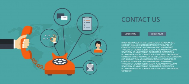 626x278 Contact Us Banner Template Vector Free Download