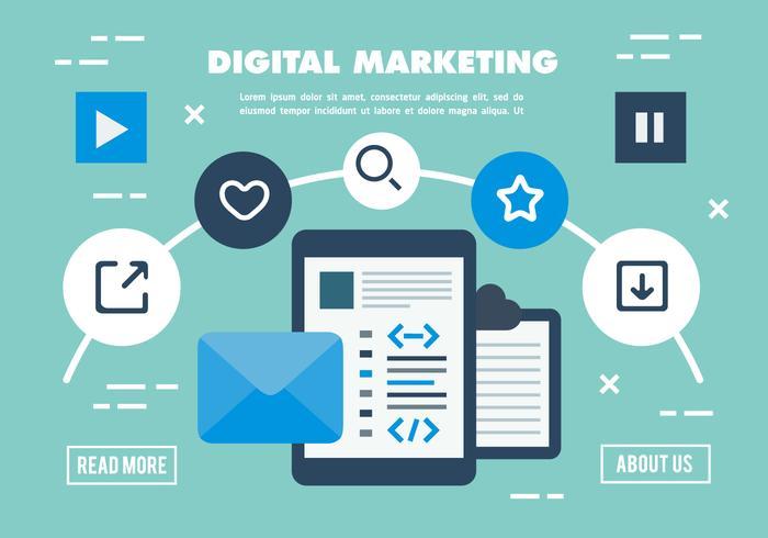 700x490 Free Digital Marketing Business Vector Illustration