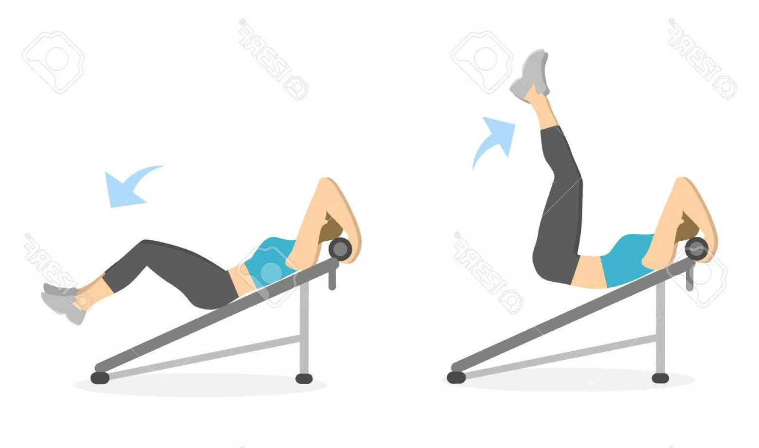 1560x921 Photostock Vector Abs Exercise For Women On White Background