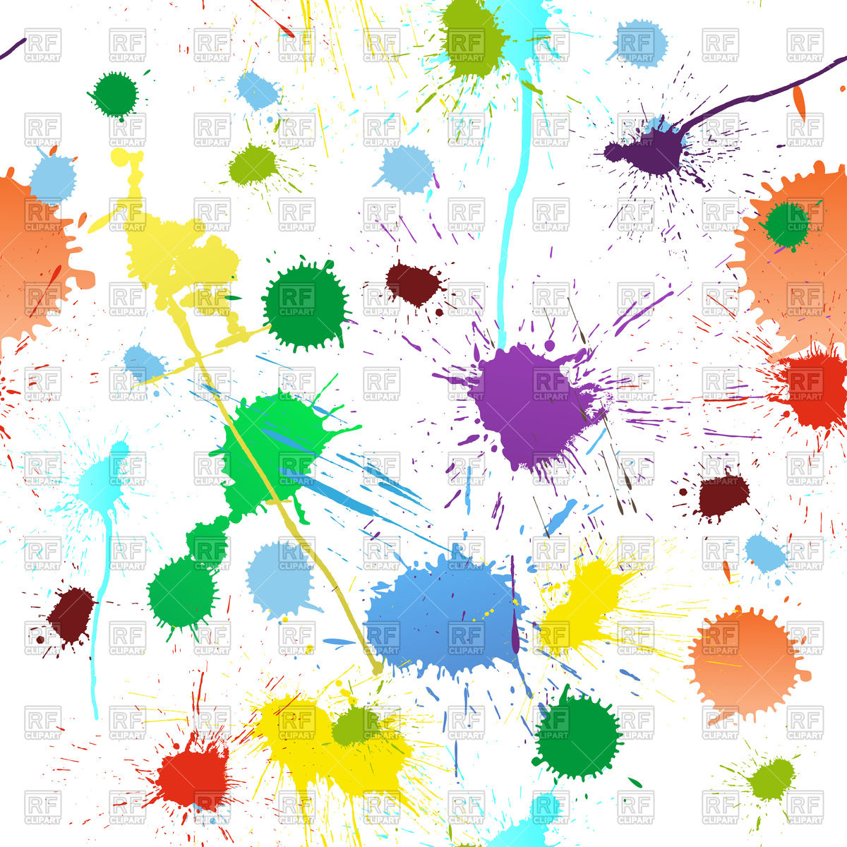 1200x1200 Abstract Grunge Background With Paint Blobs Vector Image Vector