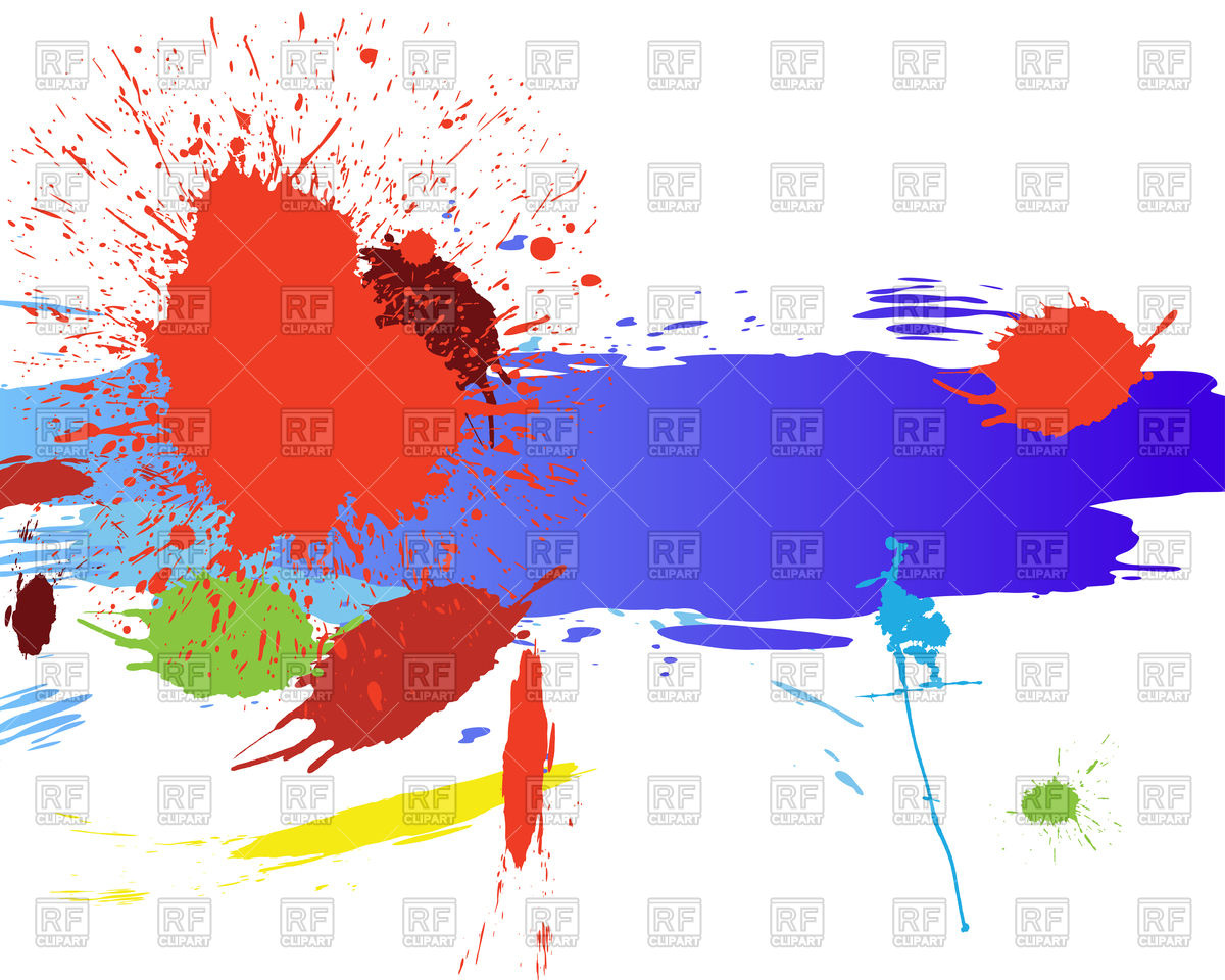 1200x960 Abstract Grunge Background With Watercolor Stains Vector Image