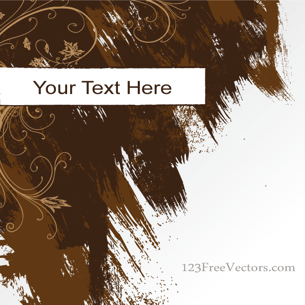 600x600 Free Vector Abstract Grunge Background Banner With Brush Strokes