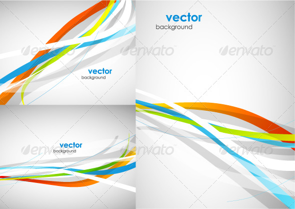 590x417 Abstract Lines. Vector Background Pack By Antishock Graphicriver