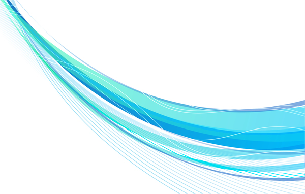 600x382 Blue Wavy With Abstract Lines Vectors 02 Free Download