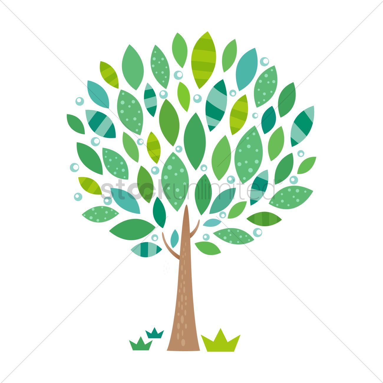 1300x1300 Abstract Tree Vector Image