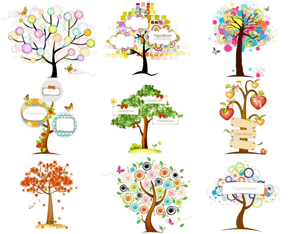 1000x800 Abstract Trees Vector Vector Graphics Blog