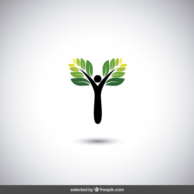 626x626 Eco Logo With Abstract Tree Vector Free Download